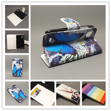 New Butterfly Flower Flag Designer Wallet Flip Stand Book Cover Case For HTC T328W Desire V / Desire X T328e freeshipping