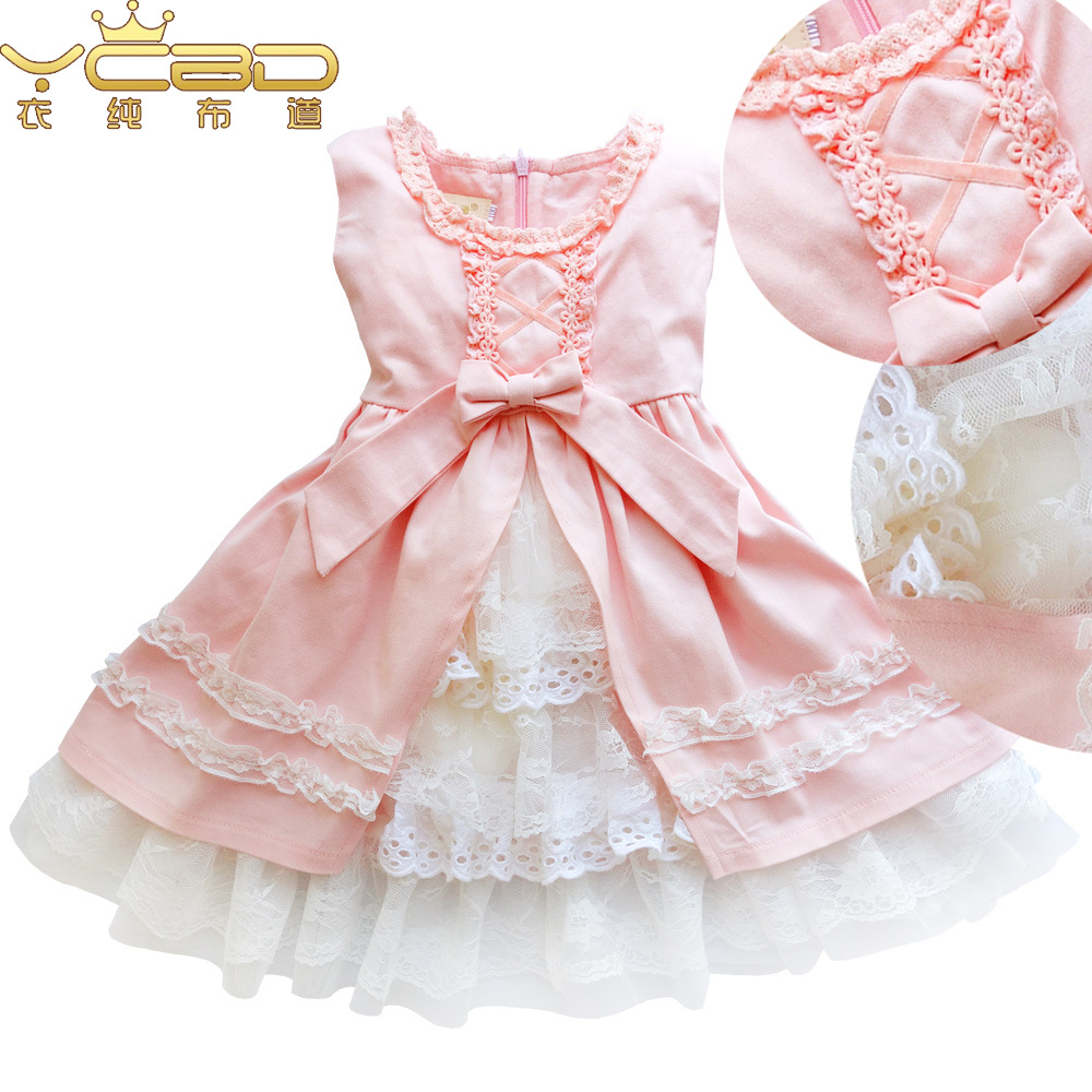 Anlencool 2017 New Spring Baby Girl Cotton Dresses Sleeveless Beautiful Flower Baby Kids Clothing Lace girls dresses<br><br>Aliexpress