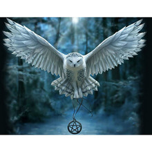 Diy diamond painting Cross stitch kit 5D Diamond embroidery owl round drill rhinestone pasted painting Crafts Needlework JK102