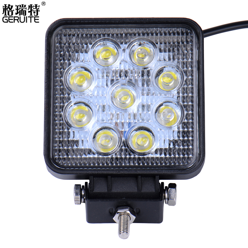 GERUITE Brand 27W High-Power 9X 3W Square LED Work Light Spot Beam 4x4 Offroad ATV Truck Tractor Motorcycle Driving Fog Lights<br><br>Aliexpress