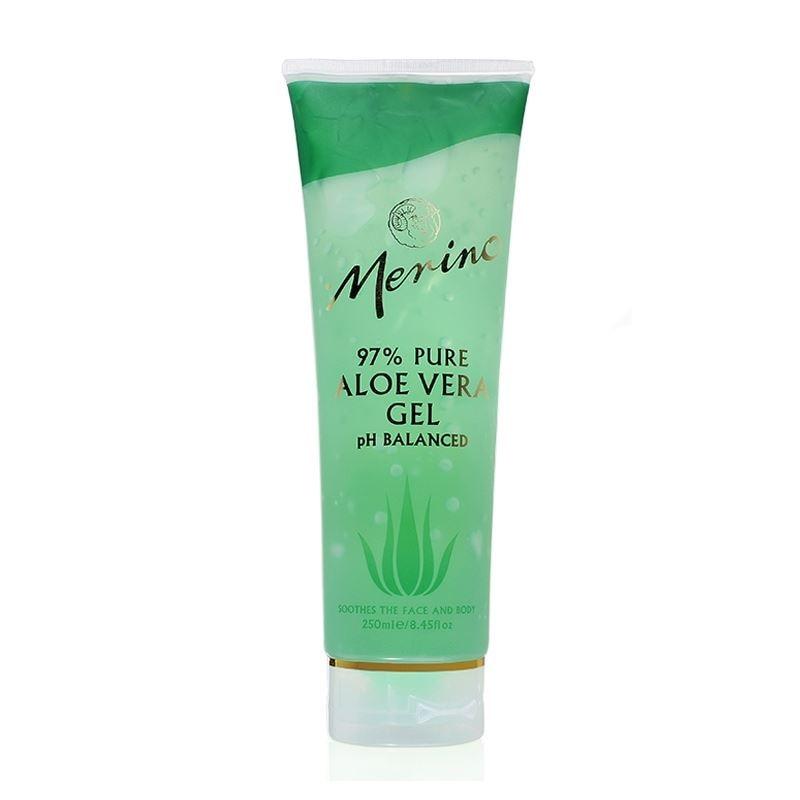 Merino 97% pure aloe vera gel 250g Tube First Aid for Burn &amp;Scar, moisturizing healing body care gel, relief of windburn sunburn<br>