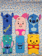 3D Cute Cartoon stitch pig Winnie Pooh Soft Silicone Cas For iPhone 4 4S&5 5S & SE & 6 6S Plus & 7 7 Plus Silicone Back Cover