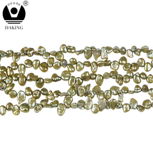 5-6mm Keshi Pearl Beads Natural Loose Pearl Freshwater Pearl DIY Beads For Jewelry Making Strand 16""