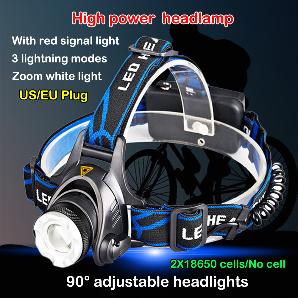 +Hot Sale+ RECHARGEABLE T6 LED HEAD TORCH 90 ANGLE ADJUSTING 3-MODES 18650 HEADLAMP #<br><br>Aliexpress