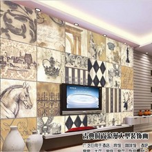 beibehang Custom large - scale murals European retro puzzles fashion painting background wall wallpaper papel de parede