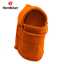 HEROBIKER Motorcycle Face Mask Thermal Fleece Balaclava Motorcycle Ski Snowmobile Cycling Full Face Mask Under Helmet Hood Hat(China)
