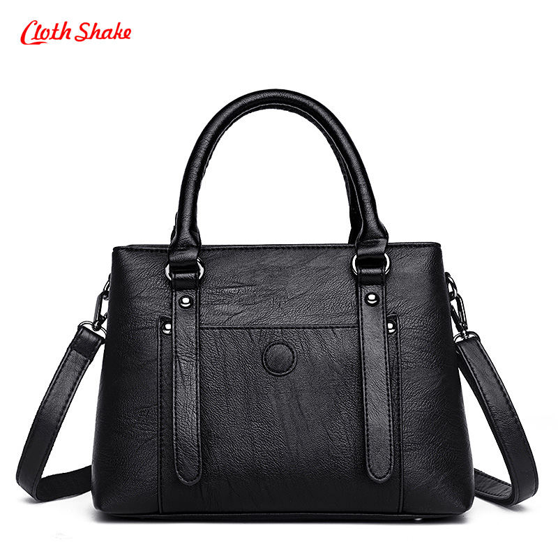 Waterproof Women Handbag PU Leather Messenger Bags Two Layers Of Unique Design Shoulder Bag High capacity Ladies Crossbody Bag<br>