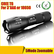 1 pcs E17 CREE XM-L T6 3800Lumens cree led Torch Zoomable cree LED Flashlight Torch light For 3xAAA or 1x18650