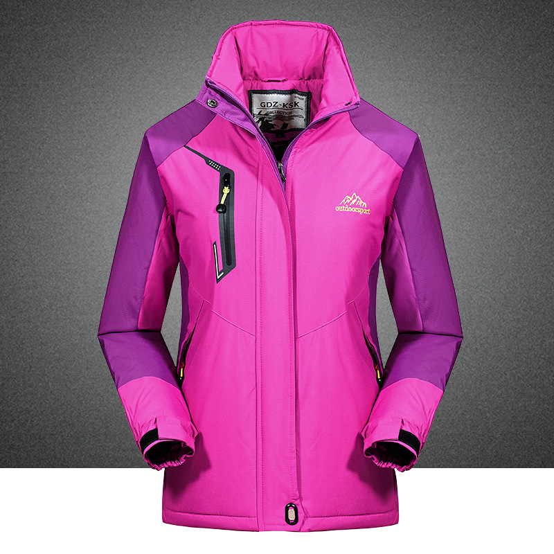 2017 Women Outdoor Mountaineering Hiking Jacket Windbreaker Female Warm Windproof Outdoor Fleece Coat Jaqueta Feminina Casaco<br><br>Aliexpress