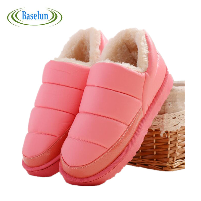 New Winter Thick Plush Warm Shoes Women Snow Boots Slip On Flat Heel Waterproof Ankle Boots For Women Platform Boots<br><br>Aliexpress