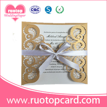 Laser cut ballet girl dance invitations paper lace custom music birthday invitation cards