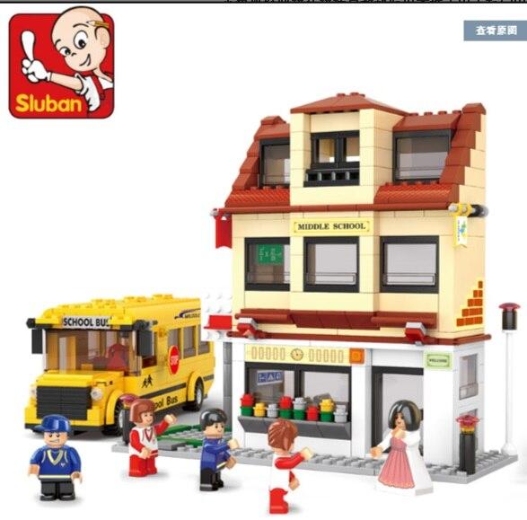 Lubanjiang small assembling building blocks toy car bus model b0333 bus large bus school bus<br><br>Aliexpress
