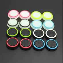 32pcs/lot Silicone colorful Cap Thumb Stick Joystick Grip For Sony PS4 PS3 Xbox 360 Xbox one Controller Game Accessory(China)