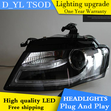 D_YL Car Styling for Audi A4 Headlights 2008-2012 A4L LED Headlight DRL Bi Xenon Lens High Low Beam Parking HID Fog Lamp