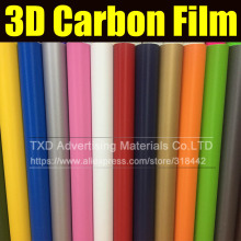 "10*127CM(4""X50"")/Lot 3D Carbon fiber film with 16 colors Option 3D carbon sticker for car interior decoration 3D carbon wrap"
