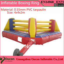 6x6meters popular inflatable boxing ring, inflatable bouncer for boxing