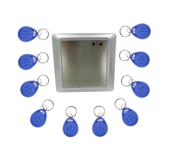 10 Key Card +Waterproof RFID Proximity Card Reader Access Controller For Door Entry<br>