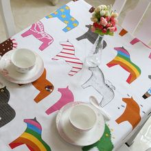 Boreal Europe style of the cartoon pony canvas table cloth cotton table cloth many sizes table cloth