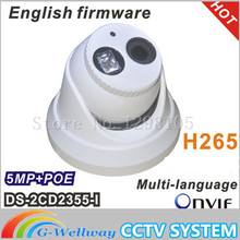 Buy Security Camera Cctv Camaras De Seguridad 2016 New Model Ds-2cd2355-i 5mp Array 30m Ir Network Dome Security Ip Camera H265 for $97.00 in AliExpress store