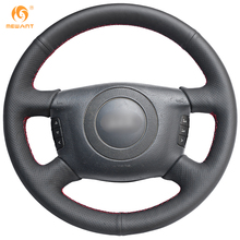 MEWANT Black Genuine Leather Car Steering Wheel Cover for Audi A6 2000-2004 A8 2000-2002(China)