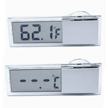 New LCD Digital Meter Thermometer Practical Car Windshield Rear View Mirror Digital Meter Thermometer(China)