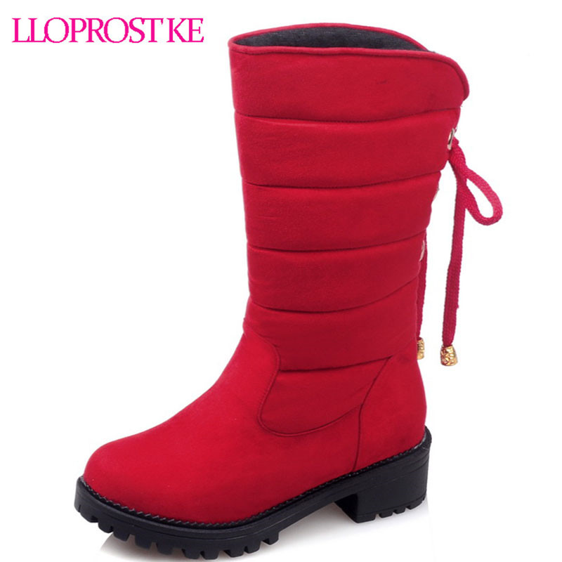 LLoprost KE New comfortable warm elastic nubuck woman snow boots slip-on beauty vogue sweet office winter half boots size dxj483<br>