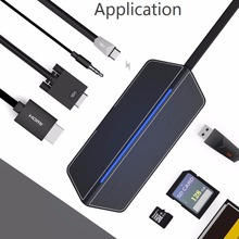 8 In 1 Type-c Expansion Adapter USB-C Hub With USB Type-C 3.0 Hi-Speed Data Syncing HDMI Port SD/TF Card Reader For MacBook Pro(China)