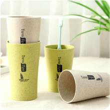 Green Wheat straw Toothbrush Holder Bottle  Wheat Brushing Gargle Kettle  Wash Healthy Creative Bathroom Kitchen Accessories