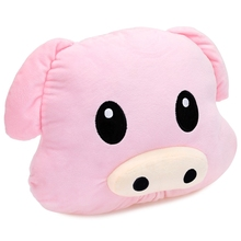 High-quality Soft Cute PP Cotton Animal Stuffed Emoticon Plush Pillow Pig Shape Toy Children Best Gift Bedding Doll