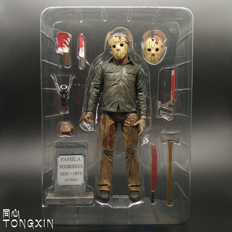 7 ULTIMATE JASON VOORHEES figure Friday the 13TH action part 3 III jeu NECA 3D