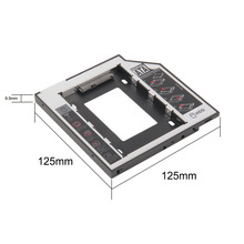 2017 Newest Wholesale Store 9.5mm for Laptop CD/DVD-ROM ODD Universal SATA 2nd HDD SSD Hard Drive Caddy Optical Bay Hot Sale