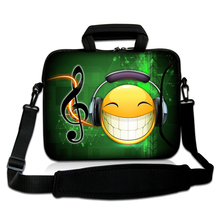 "Neoprene Netbook Handle Portable Kits10""13""14""15""17"" Toy Enjoy Music Model Computer Shoulder Carring Satchel Bag For Samsung(China)"