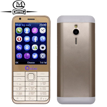 Russian keyboard mobile phone 4 Quad SIM Cards Quad Band Bluetooth FM Camera 2.8'' Screen old man Original OEINA 230 cell Phones(China)
