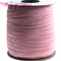 "5/8""16mm solid color matt fold over elastic ribbon tulip foe hair ties headwear sewing elastic band  decoration crafts 50 yards"