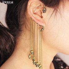 Vintage double face skull tassel Clip Earrings Couple Ear-hook women wholesale supplier for girls ladies party B100004