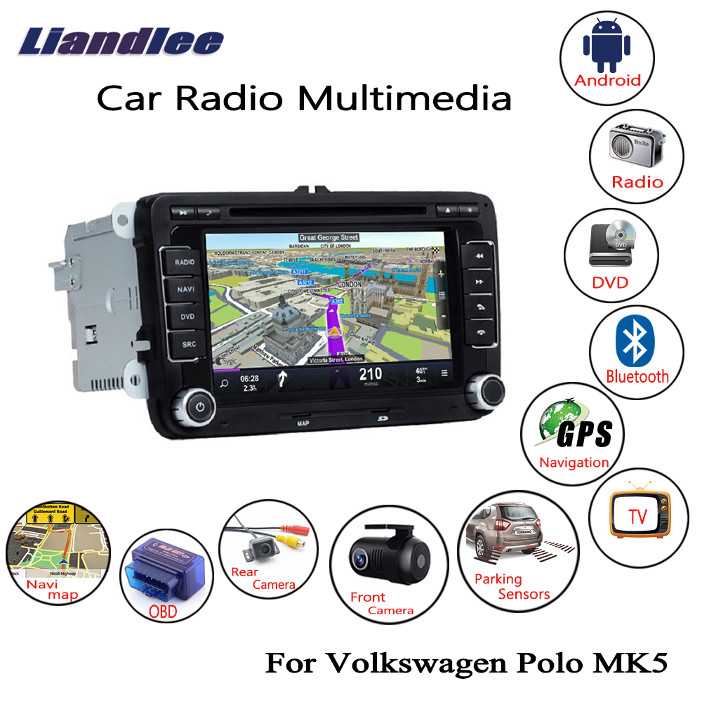 Liandlee For Volkswagen VW Polo MK5 2009~2013 Android Car Radio CD DVD Player GPS Navi Navigation Maps Camera OBD TV HD screen Multimedia1