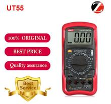 Hot Sale UT55 UNIT Digital Multimeter 1000V 20A DMM AC DC Voltmeter Resistance Diode Temperature Test UT55 Palmsize Max Holster