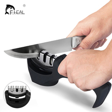 FHEAL Professional Knife Sharpener Stainless Steel Ceramic Knife Sharpening Stone Tungsten Steel Diamond Sharpener Kitchen Tools(China)