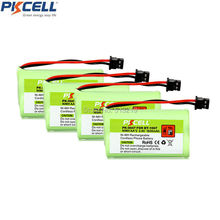 4Pcs Cordless Phone Battery 2.4V AA 1600mAh for Uniden BT-1007 BT1007 Mitsumi-2P PKCELL PK-0047 2A Batteries