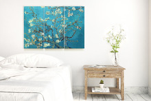 3PCS 30x60x3.5 D cm Van Gogh Almond Blossom Canvas Giclee Prints Wall Art Wall Decor