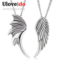 Wings Pendants Necklaces For Lovers Men Jewelry Valentine's Day Gift Couple Necklaces Pingente Masculino Suspension Vintage N328