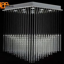 new square design crystal light contemporary lighting chandeliers large foyer crystal chandeliers LED Light