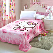 Hello Kitty Blanket for Adult/Kids Plush Fleece Blanket Kawaii Bed Throw Blanket on the Bed/Sofa/Car, 200*150cm