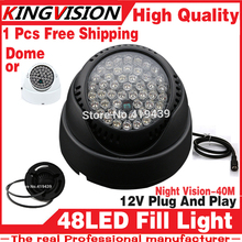 2017New Night vision enhancement equipment 48LED Illuminator IR Infrared dome CCTV Night light Vision 40M Lamp Securit 850nm 12v(China)