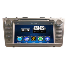2Din Car In Dash DVD Player GPS Navi Radio Bluetooth Head Unit Stereos with Reverse Camera for Toyota Camry 2007-2011