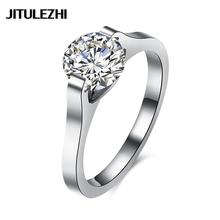 Zircon titanium steel rings for female Engagement jewelry couple rings Super Offer Luxurious Romantic lose money ornaments