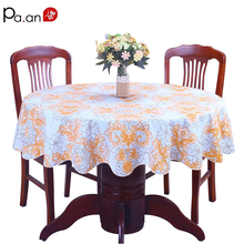 pastoral plastic tablecloth waterproof PVC floral printed round table cover home wedding decoration table manteles para mesa(China)