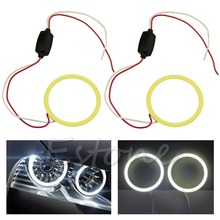 Angel Eyes Headlight 60mm COB 66 Chips Car Halo Ring Decorative White Light 6000K