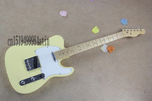 Free shipping HOT ! tele guitar High Quality milk yellow tele guitar Ameican standard telecaster electric Guitar in stock   @4