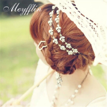 Fashion Little Flower Stretch Head band Crystal Headband Hair Acessories Headwear Women Hair Jewelry